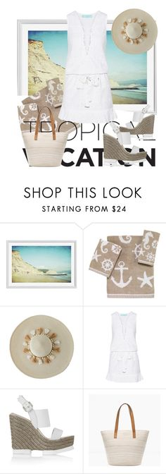 """""""Welcome to Paradise: Tropical Vacation"""" by michele-nyc ❤ liked on Polyvore featuring Pottery Barn, Avanti, Lilly Pulitzer, Melissa Odabash, Paloma Barceló and Chico's"""