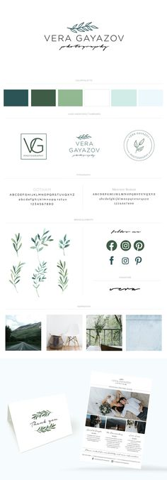 Brand Style Guide for Photographer   clean, nature-inspired graphic design