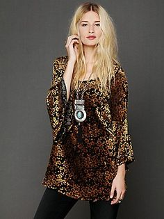 I love this new Free People velvet tunic!!!!