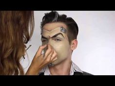 Makeup halloween tutorial Handsome Jack Borderlands Cosplay - YouTube