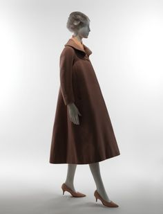 """Charles James (American, born Great Britain, 1906–1978). """"Gothic"""" Coat, 1954. Wool, silk. The Metropolitan Museum of Art, New York. Brooklyn Museum Costume Collection at The Metropolitan Museum of Art, Gift of the Brooklyn Museum, 2009; Gift of Mrs. John de Menil, 1957 (2009.300.3572) #CharlesJames"""
