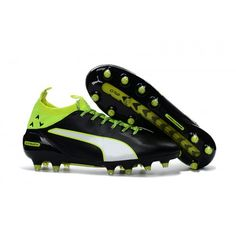 eed5c9b5b40ba9 2034 Puma evoTOUCH PRO FG Mens Soccer Cleats Black Green White Puma  Football Boots