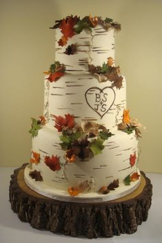 "Birch tree cake idea! :) ""One could do worse than be a swinger of birches."""