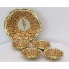 1940 Mr Peanut Planters Bowl and 4 Serving Bowls NOS Vintage W/Box - pinned by pin4etsy.com
