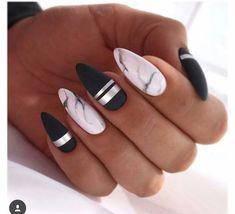 Spring Nail Art Cute Spring Nail Designs Ideas - nails - Welcome Haar Design Feather Nail Designs, Marble Nail Designs, Marble Nail Art, Acrylic Nail Designs, Nail Art Designs, Nails Design, Black Marble Nails, Feather Nails, Cute Spring Nails