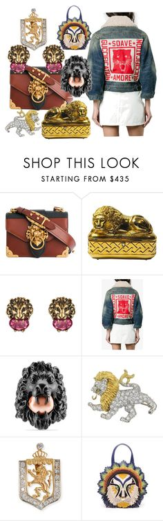 """March Comes In Like A Lion"" by engleann ❤ liked on Polyvore featuring Prada, Judith Leiber, Gucci, Turner & Tatler and Tema"