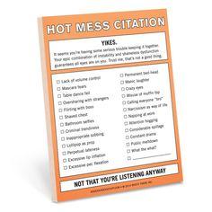 Hot Mess Citation.