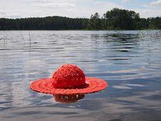 omⒶ KOPPA: Virkattu kesä(lieri)hattu Cowboy Hats, Crochet Hats