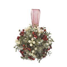 Kissing Krystals Small Mistletoe Ball Ornament #KK275