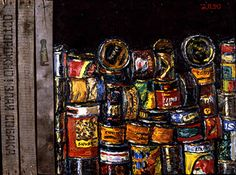 1992 series 'Gastronom' by Aleksandr Popov (b1951 In  Moscow ~ aka Kagorov ~ aka Rdnaskel Popov)