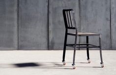 Metal II Chair - Leather Wheels - Chairs - Seating   DomésticoShop