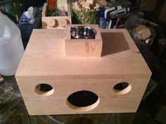 Custom Chinchilla Cages   Hidey House w/ Food Bowl Holder (~$20.00)