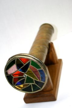 Brass Double Wheel Kaleidoscope//Lead Framed by TresorsJeAmour