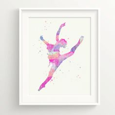 Ballerina Print - Ballet Dancer in prismatic color, Modern Dancer, watercolor, rainbow, girls by MistPrintEtsy on Etsy https://www.etsy.com/uk/listing/232528891/ballerina-print-ballet-dancer-in