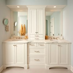 Replace cabinet only under sinks with cabinet above drawer - over head lighting option vs sconce