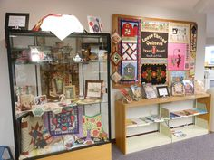 Quilting Display courtesy of Loose Thread Quilters, at the Peebles Public Library