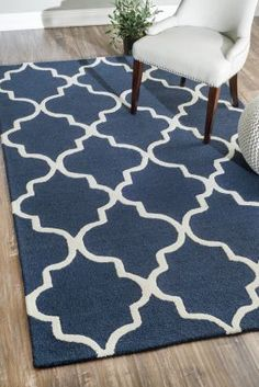 $5 Off when you share! Tuscan Trellis VS71 Navy Rug   Contemporary Rugs #RugsUSA