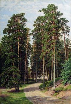 THE SUN IN WOODS, BY IVAN IVANOVICH SHISHKIN