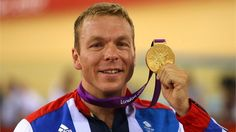 Gold medallist Sir Chris Hoy of Great Britain celebrates during theVictory Cermonyfor the Men's Keirin Track Cycling Final on Day 11.