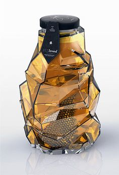 This beautiful concept for a luxury honey product has been designed to reflect just that - quality. Entitled BEEloved honey, it's designed as a refined and sophisticated product that aims to interact with its consumers in a smart and seductive manner.