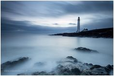 Scurdie Ness Lighthouse, SCOTLAND. Foggy Water.
