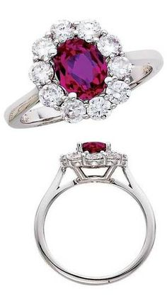 Vintage Ruby + Diamond Ring ♥ #engagementrings #jewelry #pricepointshop