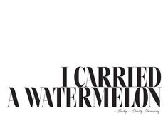 I Carried A Watermelon als Leinwandbild