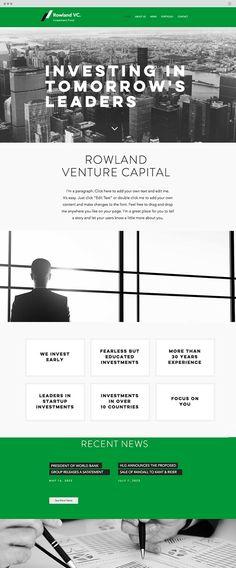 Investment Firm Website Template Wix Website Templates Pinterest - Venture capital website template