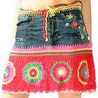 crochet jean skirt - Buscar con Google