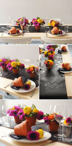 Easy to create table tops with poppin' pots of great color!