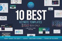 Best Keynote Template Bundle by SlidePro on @creativemarket