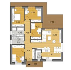House plans - choose your house by floor plan Small House Floor Plans, My House Plans, One Story Homes, Story House, Planer, Bungalow, Minimalism, Flooring, How To Plan