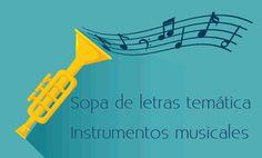 Sopa de letras interactiva temática: instrumentos musicales #sopadeletras