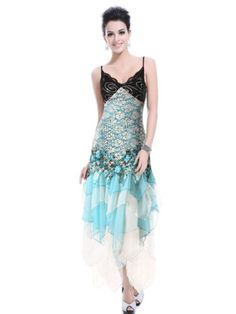 Ever Pretty Sexy Green Lace Long Evening Dress « Clothing Impulse