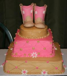 Cowgirl Party Birthday Cake Stephs next cake I think or do in blue for Glen