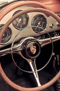 #Porsche 356 #Dashboard - absolutely stunning! #Style #Interior #Luxury #Classic #Design #Class #Beauty