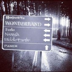 Hogwarts. Wonderland. Forks. Narnia. Middle Earth. Panem. <3