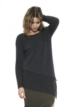 Lea Pullover by one grey day- Basics with a twist, Lea is the rebellion against your classic sweater. Turtle Neck, Pullover, Hoodies, Fall 2015, Grey, Sweaters, Shirts, Clothes, Shopping
