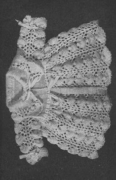 Pippy Shell Baby 2ply matinee coat fine lace vintage by Ellisadine
