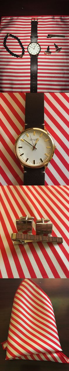 Mixed Items and Lots 10970: Lot Of 5-Simplify Watch,Mens Bracelet,Wood Tie Clip,Crosbyandco Cufflinks,Handkerc -> BUY IT NOW ONLY: $30 on eBay!
