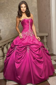 Strapless Applique Decorated Quinceanera Ball Dress  SPECIAL PRICE: $112.00
