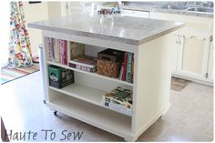 Haute To Sew: Kitchen Island I'm so bummed I literally just got rid of the hutch to my old desk!!!