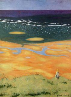 Felix Vallotton (Swiss 1865-1925) Flood at Houlgate. Sun.