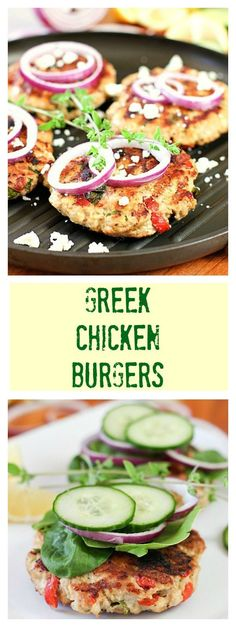 Greek Chicken Burgers- flavorful, healthy, fresh and fast! @laughingspatula