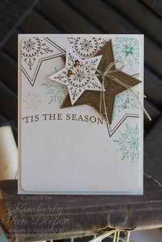 I'm Left Speechless! - StampinByTheSea.com - SU - Stars, Christmas - Many, Merry Stars stamp set