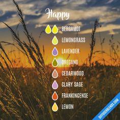 Happy - Essential Oil Diffuser Blend #EssentialOilBlends