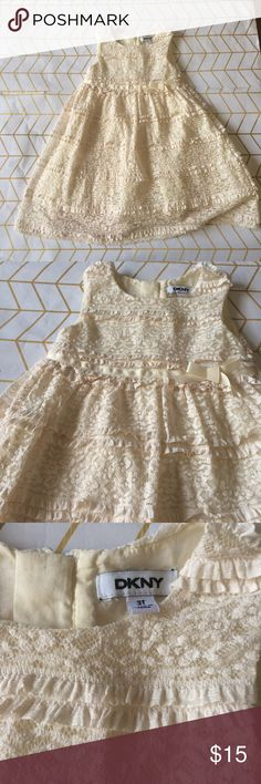 Sample Sale! DKNY Girls Lace Dress, 3T + 6 DKNY Sample Sale! PLEASE READ: Tees/Tanks to $12, and everything else from dresses to sweaters + jackets are way down to $15, PLUS the 10% bundle discount! Since these boutique items are heavily discounted, list/bundle prices are FIRM, no Offers. Retail ranges from $22 to $80. 55-80% off! Items are direct from manufacturer and will have a sample tag or no tag added, and may have no size/brand sewn into collar. See photos for specifics. Last 3 photos…