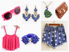 i'm blogging about different outfits which are perfect for a fashionable summer time  which one is your favourite?  tell me here: http://www.strangeness-and-charms.com/2014/05/shopping-love-ready-for-springsummer-14.html