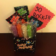 Pop rocks and rock candy Birthday Party Decorations, Birthday Parties, Birthday Ideas, Halloween Birthday, Rock Candy, Pop Rocks, Cute Crafts, Cool Gifts