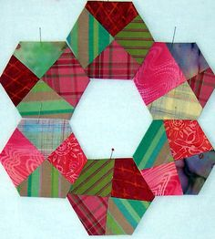 Quilting ideas @Abbey Adique-Alarcon Phillips Regan Truax://pinterest.com/hugabear2/  hexagons